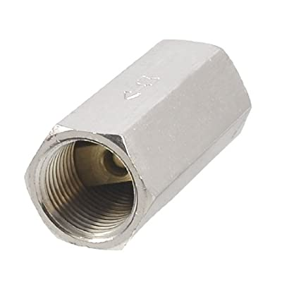 """Solid Brass 3/8"""" PT Thread Air Gas Water Non-return One Way Check Valve by Amico"""