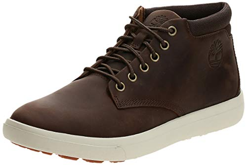 Timberland Ashwood Park Leather, Stivali Chukka Uomo, Giallo (Wheat Nubuck), 43 EU