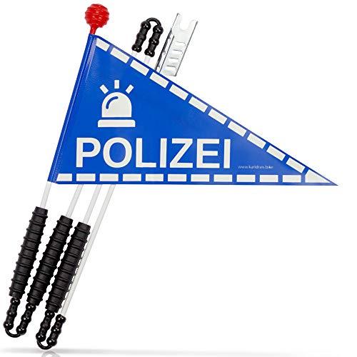 Karl Drais Fahrradwimpel Polizei | Fahrrad Wimpel | Jungen Sicherheitswimpel