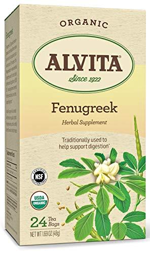 Alvita Organic Fenugreek Herbal Tea - Made with Premium Quality Organic Fenugreek Seeds, And Mild Bitter Flavor, 24 Tea Bags