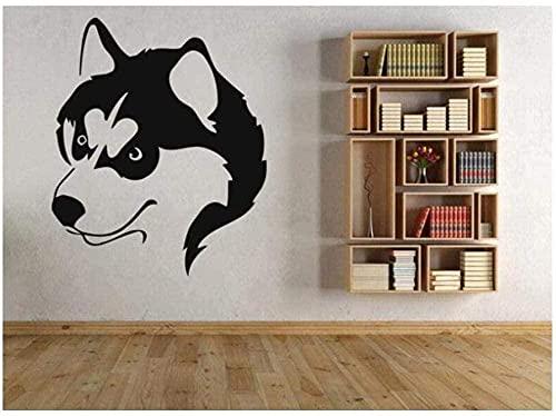 Pegatinas de pared Calcomanías de pared Póster animal husky lindo perro tienda de mascotas obra de arte 50X42 cm