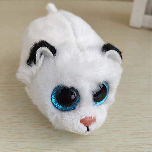 ASDFF Peluche Ty Beanie Boo Teeny Tys Peluche - Icy The Seal 9cm Big Eyes Peluche Muñeca Púrpura Panda Bebé Niños Regalo Mini Juguetes 0-10cm 36