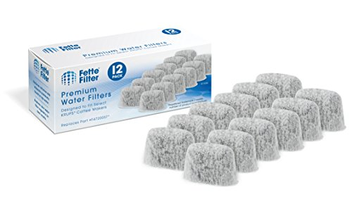 Fette Filter – Coffee Water Duo Filter Compatible Filtration System for KRUPS Coffee Makers, Compatible with FMF/FME / 629/619 /180/176 / 466 and 467-12 Pack