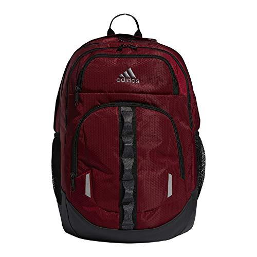 adidas Unisex-Erwachsene 977613 Prime, Rucksack, Burgundy/Bk/Hthr Bk/Gy V5, OSFA