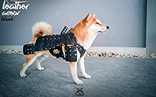 HOT! Made-to-Order Japanese Style Handmade Dog Costumes Samurai Armor for Dog Fashion Cosplay for Medium Dog Made from Genuine Leather