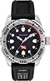 Nautica Watch NAPTDS901 Tarpoon Dive, Analog, Water Resistant, Luminous Display and Indexes, Silicone Band, Buckle Clasp, Black