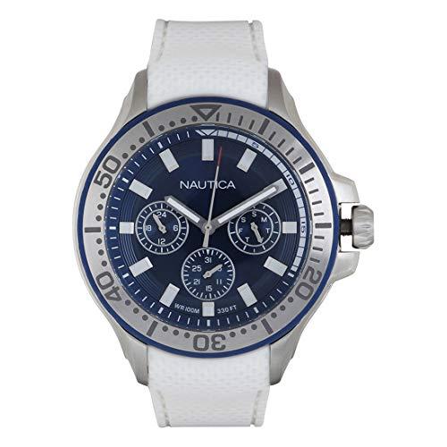 Nautica Reloj Analógico para Hombre de Cuarzo con Correa en Silicona 0656086082548