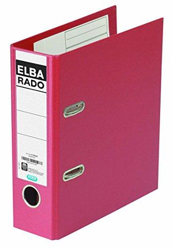 ELBA kunststof map rado plast A5 hoog 7,5 cm breed wit met insteekrug bord, ringmap, ordner, ordner, bureauordner, plastic map Ordner Rado plast 23 x 21,4 x 7 cm rood