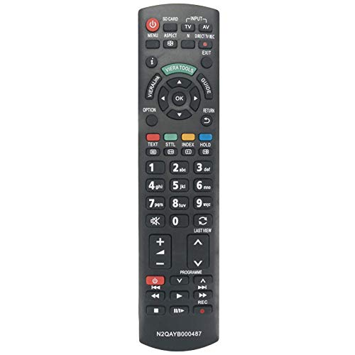 VINABTY N2QAYB000487 Reemplazo de Control Remoto para PANASONIC LED LCD Viera TX-P37C2B TH-32LRG20E TH-42LRG20E TX-L22X20B TX-LF37S20 TX-L19E3B TX-L19E3E TX-L22X20E TX-L22X20L TXL32X25E TX-L24C3B