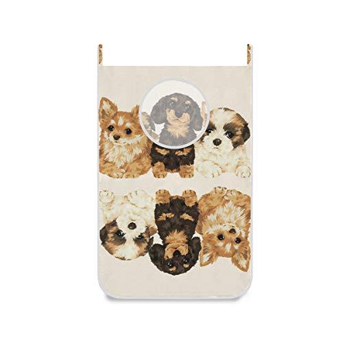 XiangHeFu stoffen zak grote omgedraaide hondenmand opvouwbare slaapzaal wasmand deurhanger