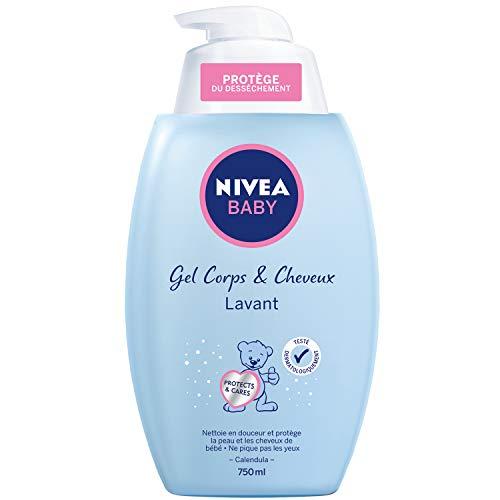 Nivea Gel lavant douceur corps & cheveux, sans paraben, hypoallergénique - La pompe de 750ml