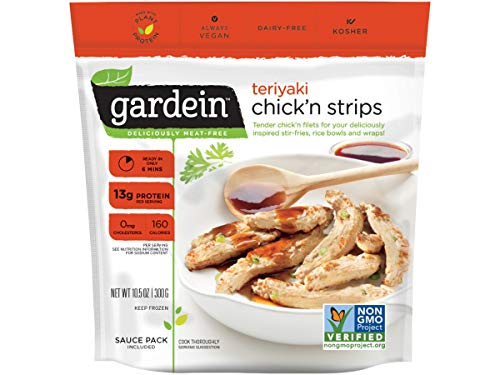 Gardein Teriyaki Chicken Strips, 10.5 Ounce -- 8 per case.