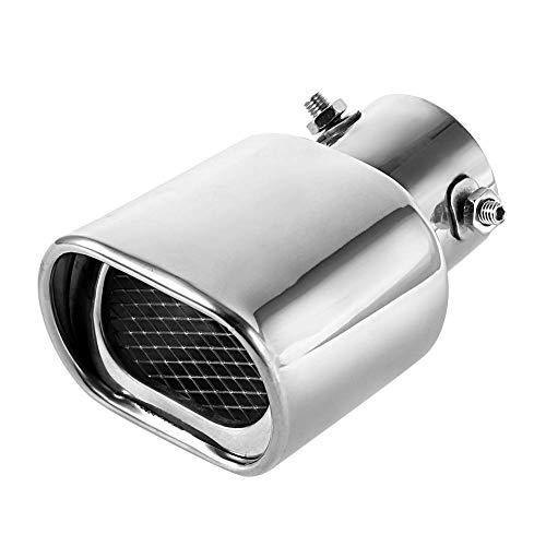 Puntas de Escape Silenciador Tubo de Escape de acero Inoxidable Tubo de Escape Cuadrado Espesor de boca Cuadrada, Entrada 63 mm (2.5