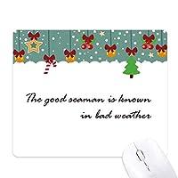 スローガンは、グッドシーマン悪天候の中で知られている ゲーム用スライドゴムのマウスパッドクリスマス