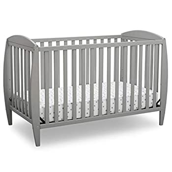Delta Children Twinkle 4-in-1 Convertible Baby Crib Easy to Assemble Sustainable New Zealand Wood Grey