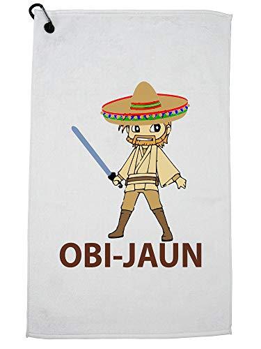 Hollywood Thread Obi Juan - Spaans Wan Kenobi met Sombrero Golf Handdoek met Karabijnhaak Clip