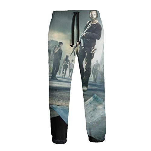 Die Walking Dead Unisex Jogginghose 3D Graphic Jogger mit Kordelzug Taschen Training Jogginghose Casual Street Hip Hop Sporthose