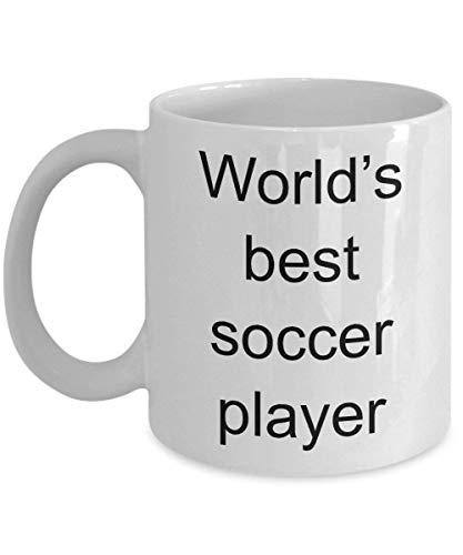 Taza de café del mejor jugador de fútbol del mundo Regalos baratos Taza de fútbol de amor Regalo de fútbol Regalo barato para fanáticos del fútbol Taza Tazas de fútbol Regalo para entrenador Lindo