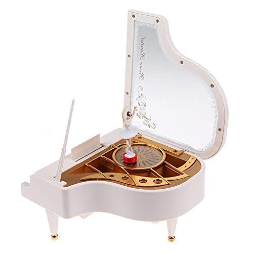 FEANG Cajas de música Tipo de relojería Rotary Classical Ballerina Girl en el Piano for niños Regalos de cumpleaños