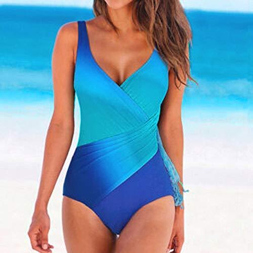 Wzdszuil Trajes de baño for Mujeres, Lazo de Las Mujeres de impresión en seco Traje de baño Atractivo del bañador del Bikini Push Beach Arriba Rellenado del Traje de baño Ropa de Playa Señora