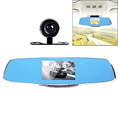 CHEZAI HD 1080P 4.3 Inch Screen Display Rearview Mirror, 2 Cameras 170 Degree Wide Angle Viewing, Support HDR Recording/Motion Detection Function from SPRIS