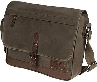 Heritage Canvas Leather Messenger Bag, Travel Bag, Tablet Friendly TRP0443 (Olive)