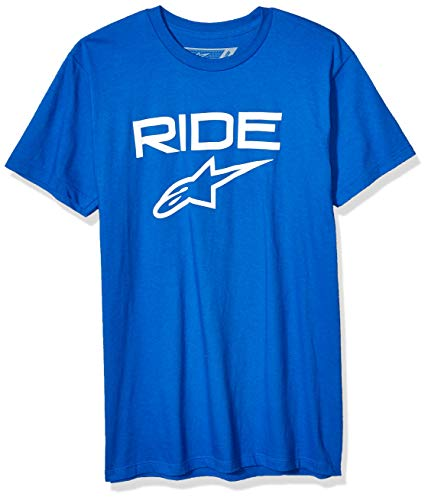 Alpinestar Ride 2.0 tee Camiseta de Manga Corta con Logo de Corte Moderno, Hombre, Royal/White, M