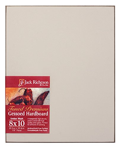 Jack Richeson Umber Wash Toned Gessoed 1/8 Hardboard 8