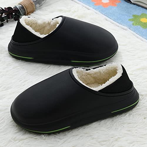 TTFF Felpa Suave Invierno Pantuflas,Zapatillas de Felpa EVA Plus, Zapatos de Piel cálidos y Resistentes al Desgaste,Suave y Antideslizante Interior Pantuflas