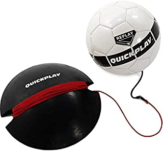 QuickPlay Replay Soccer Training Ball | Adjustable Bungee...
