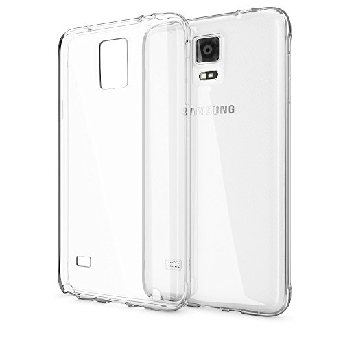 NALIA Handyhülle kompatibel mit Samsung Galaxy Note 4, Slim Silikon Hülle Hülle Cover Crystal Clear Schutzhülle Dünn Durchsichtig, Etui Handy-Tasche Back-Cover Transparent Schutz Smart-Phone Bumper