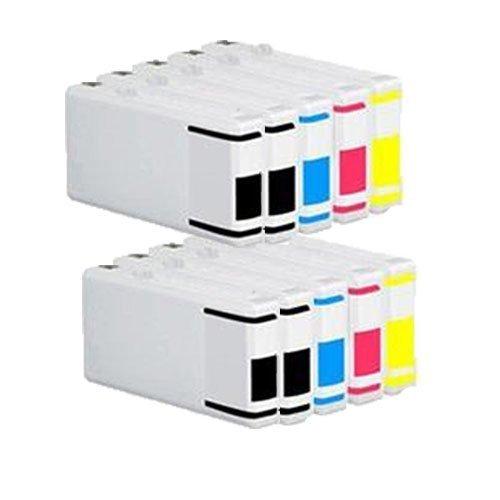 kit 10 Cartucce compatibile per Epson BL-T7021 7022 7023 7024 WP-4015DN 4025DW 4515DN 4525DNF 4535DWF 4545DTWF 4595DNF 4095DN