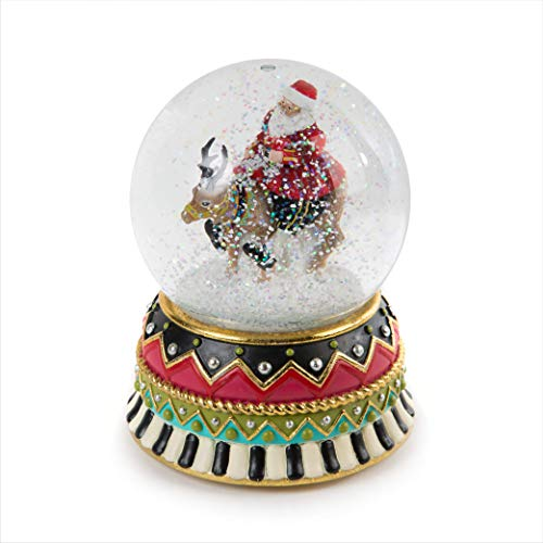 MACKENZIE-CHILDS Olde Time Christmas Santa Claus Snow Globe and Music Box, Christmas Decorations, Holiday Collectibles