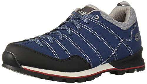 Jack Wolfskin Herren Scrambler Low M Walking-Schuh, Blue/Black, 43 EU