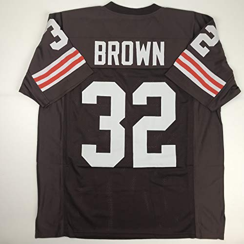 Unsigned Jim Brown Cleveland Custom Stitched Brown Football Jersey Size Men's XL New No Brands/Logos