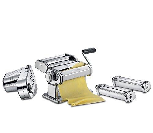 Küchenprofi Set Motor Plus PASTACASA Nudelmaschine, Edelstahl, Silber, 35 x 24.5 x 22 cm, 2-Einheiten