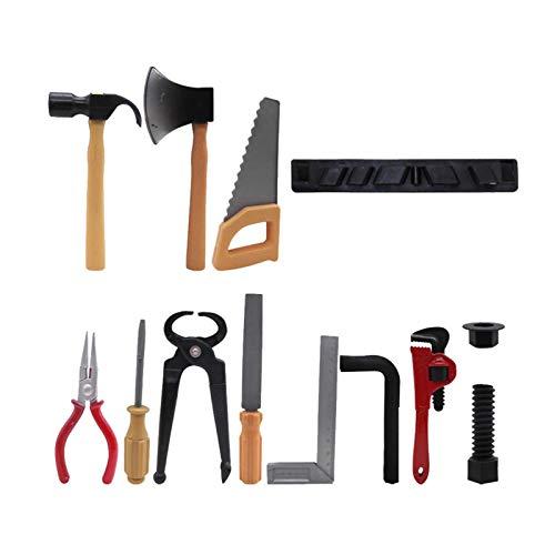 Juguetes educativos Juguetes de construcción, niños niñas Reparación de juguetes de construcción preescolar para niños pequeños Juego de herramientas para niños, juego de herramientas de plástico