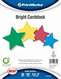 Printworks Bright Cardstock 65 Pound, Vellum, 8.5 x 11 Inches, Assorted Colors, 50...