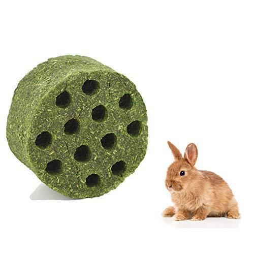 ZLLOO Juguetes para Masticar Conejos Bocadillos para Mascotas Pastel de Pasto Natural para Chinchillas Hámsters Cobayas (Grande)