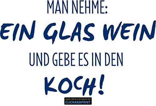 CLICKANDPRINT Aufkleber » Man nehme: Ein Glas Wein, 30x18,5cm, Metallic Nachtblau • Dekoaufkleber / Autoaufkleber / Sticker / Decal / Vinyl