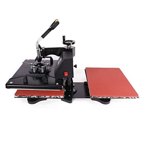 UROK Prensa de Calor 30X38CM Máquina de Prensa de Calor 1250W con Controlador LED Digital Heat Press Machine para Camiseta (30X38CM)
