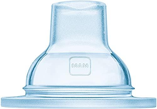 MAM - Boquilla para beber, juego de 2 unidades, extrasuave, para todas las botellas MAM y el entrenador MAM, ideal para la transición al vaso de aprendizaje, edad a partir de 4 meses, transparente