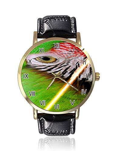 Reloj de cuarzo para hombre Parrot con pantalla analógica y correa de cuero