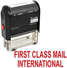 First Class Mail International Self Inking Rubber Stamp - Red Ink (42A1539WEB-R)