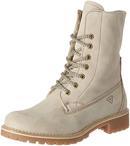 Tamaris Damen 26443 Combat Boots, Beige (Cream), 38 EU