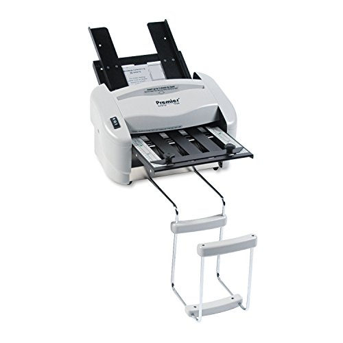 Martin Yale P7200 Premier Rapid Fold Automatic Desktop Letter/Paper Folder, Automatic Folding of 8 1/2' x 11' Paper and a Stack of Documents, 4000 Max Speed per hr, Includes Stacking Tray