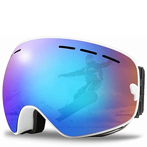 AMFG Doble anti-niebla Gafas de esquí deportes al aire libre Ski Goggles Gafas de montañismo esféricas grandes (Color : K)