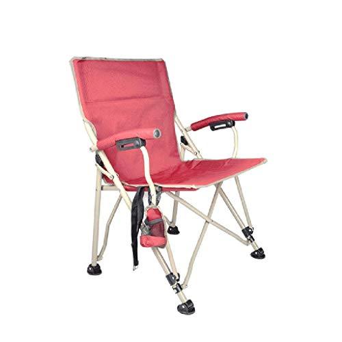 Tabouret Pliant, Acier Inoxydable, Imperméable, Maille Épaisse, Intérieur, Extérieur, La Charge Maximum Est De 150Kg (Color : Red)