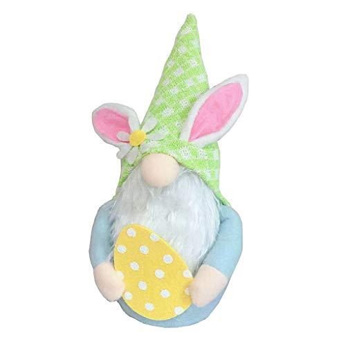 1 pc de Pascua conejo huevo gnomo decoración hecha a mano muñeca sin rostro de felpa enana sueca tomte elfo adorno de niños juguetes