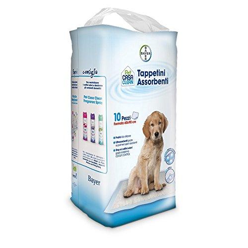 Sano e bello Tappetini assorbenti Pet casa Clean pz. 10-Igiene toeletta Cane, Multicolore, Unica